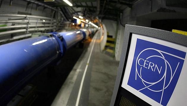 Der Teilchenbeschleuniger Large Hadron Collider am CERN (Bild: EPA)