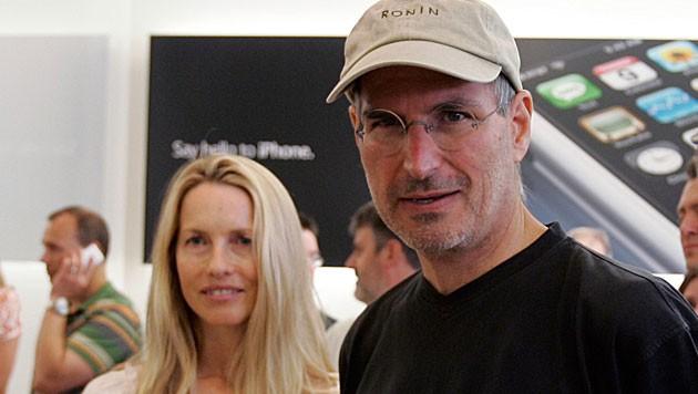 Laurene Powell Jobs mit ihrem 2011 verstorbenen Ehemann, Apple-Gründer Steve Jobs (Bild: dapd)