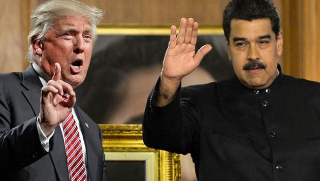 """US-Präsident Trump warnt seinen venezolanischen Amtskollegen Maduro vor dessen """"Diktatur-Plänen"""". (Bild: AP, AFP)"""