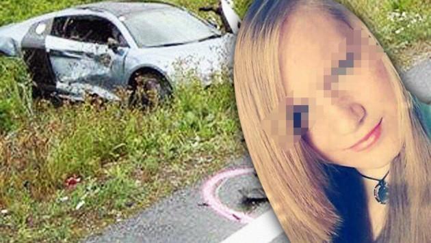 Tanja (17) überlebte den Unfall nicht. (Bild: Privat, Polizei, krone.at-Grafik)
