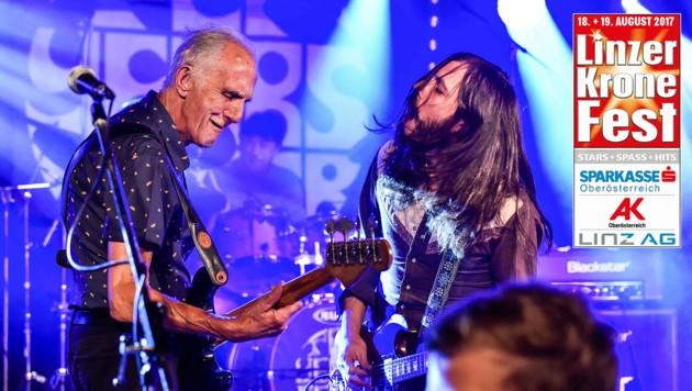Gute Rock-Musik liefern Ten Years After, die schon beim legendären Woodstock-Festival dabei waren. (Bild: Markus Wenzel)