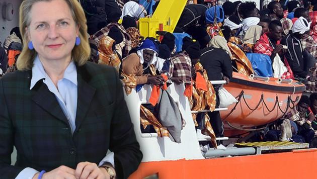 Nahost-Expertin Dr. Karin Kneissl (Bild: Peter Tomschi, AFP, krone.at-Grafik)