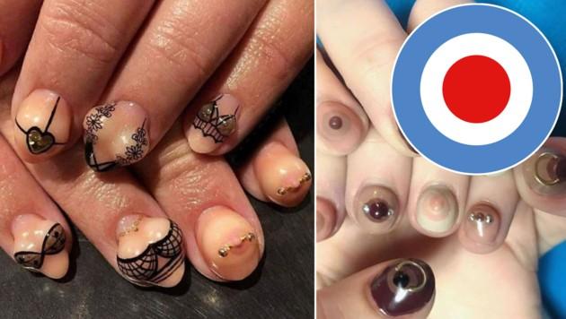 Neuester Trend Im Web Bruste Auf Fingernageln Krone At