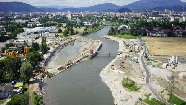 Arbeiten am Murkraftwerk laufen â013 auch Verwaltungsgerichtshof lässt die Gegner abblitzen! (Bild: Energie Steiermark)