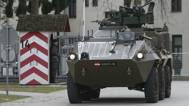 Ein Pandur-Radpanzer des österreichischen Bundesheeres (Bild: APA/BMLVS/Wolfgang Grebien)