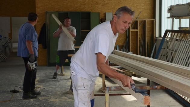 Werner Riedl hatte am Montag seinen ersten Arbeitstag im Bauhof von Bärnbach (Bild: Jakob Traby)