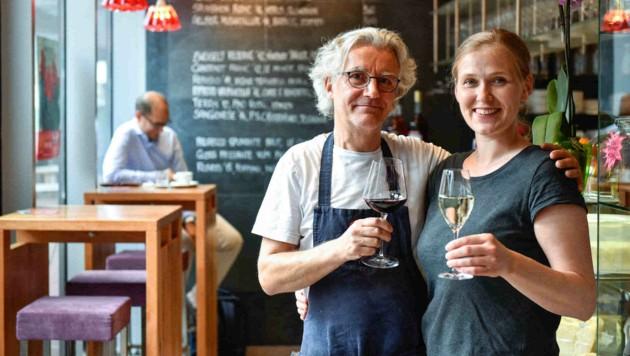 Gerhard Hinterleitner und Ursula Scherb sorgen im Linzer Bigoli italienische Hausmannskost. (Bild: Markus Wenzel)