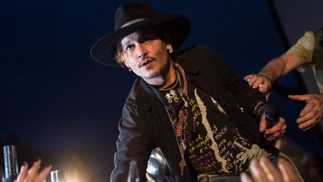 Johnny Depp beim Glastonbury Festival (Bild: AFP)