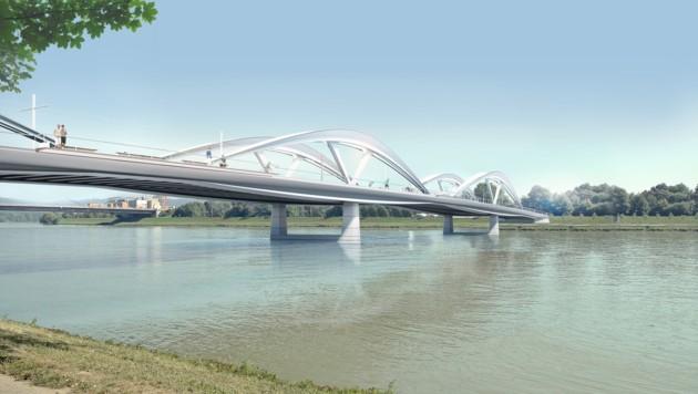 So soll die neue Linzer Donaubrücke einmal aussehen.