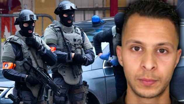Salah Abdeslam wurde im März 2016 im Brüsseler Problemviertel Molenbeek gefasst. (Bild: APA/AFP/POLICE NATIONALE/DSK, ASSOCIATED PRESS)