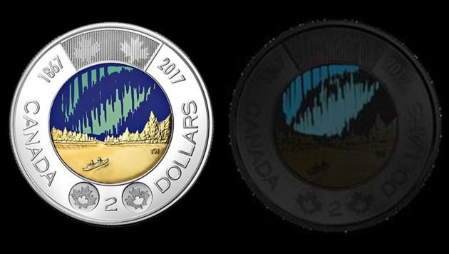 Kanada Bekommt Leuchtende Zwei Dollar Münze Kroneat
