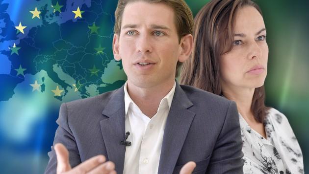 Die ÖVP-Minister Kurz und Karmasin (Bild: APA/HERBERT PFARRHOFER, APA/ROLAND SCHLAGER, thinkstockphotos.de)