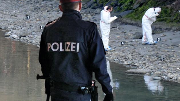 Die Leiche von Lucile K. war am 12. Jänner 2014 von Polizisten am Ufer des Inn entdeckt worden. (Bild: APA/ZOOM-TIROL, Reinhard Holl)