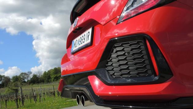 Honda hat beim Civic relativ viel Plastik verbaut, um eine martialische Optik zu erhalten.