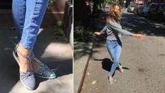 Sarah Jessica Parker ist begeistert von ihren Sandalen-Sneakers. (Bild: facebook/sjp)