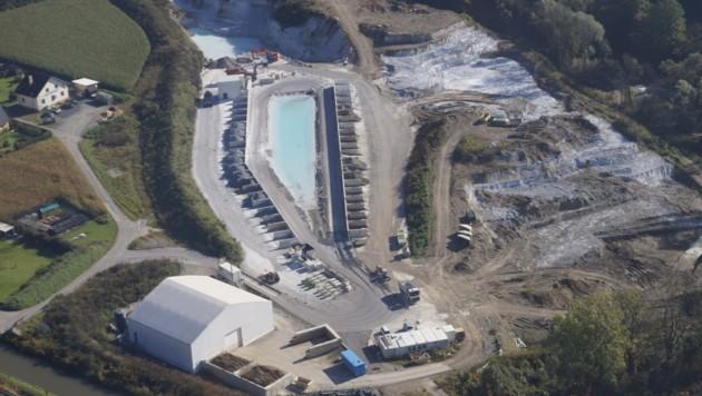 250.000 Tonnen lagern noch in Brückl (Bild: Donau Chemie)