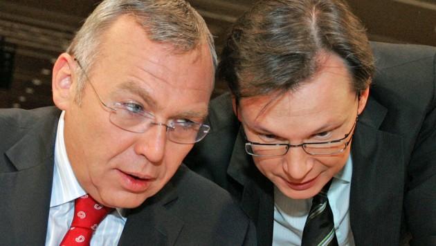 Gusenbauer (li.) und Darabos (Bild: APA/Helmut Fohringer)