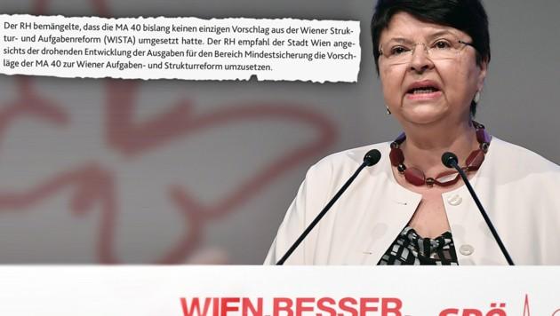 Wiens Finanzstadträtin Renate Brauner (Bild: APA/HANS KLAUS TECHT, Rechnungshof)