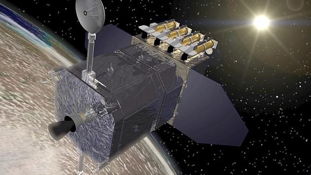 "Künstlerische Illustration des ""Solar Dynamics Observatory"""