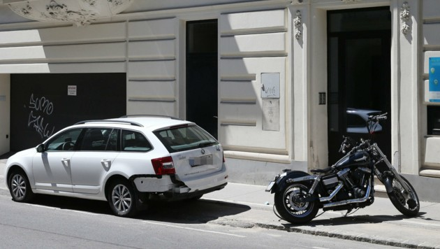 In der Gymnasiumstraße war der Lenker mit seinem Motorrad zu Sturz gekommen. (Bild: zwefo)