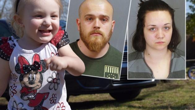 Die kleine Addie wird nie wieder lachen könne, ihre Eltern sind in Haft. (Bild: Jefferson County Sheriff's Office, twitter.com)