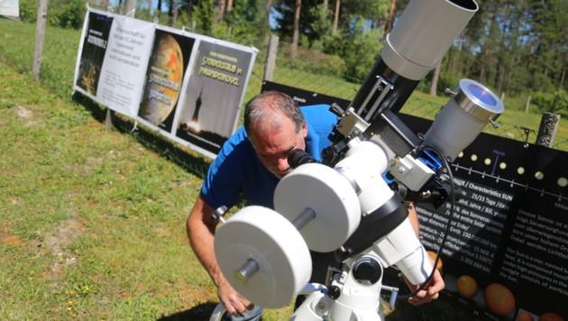 Ein Highlight der Science Days: Zwei Telskope zur Sonnenbeobachtung (Bild: Evelyn Hronek)