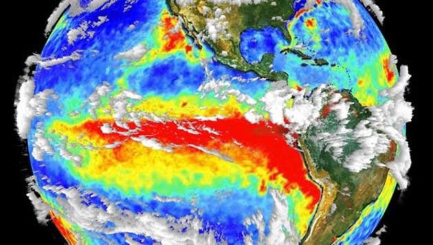 Satellitenaufnahmen von El Niño (Bild: NASA)