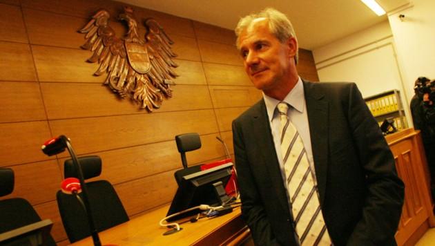 Josef Martinz einst beim Birnbacher-Prozess (Bild: Kronen Zeitung)
