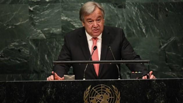 UNO-Generalsekretär Antnoio Guterres (Bild: APA/AFP/Jewel Samad)