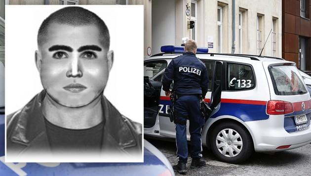 Die Polizei sucht per Phantombild nach diesem Mann. (Bild: APA/ROBERT JÄGER, LPD NÖ)
