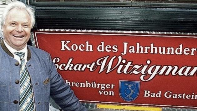Sie widmeten ihm eine Gondel: Ehrenbürger und Jahrhundertkoch Eckart Witzigmann. (Bild: Manfred Siebinger)