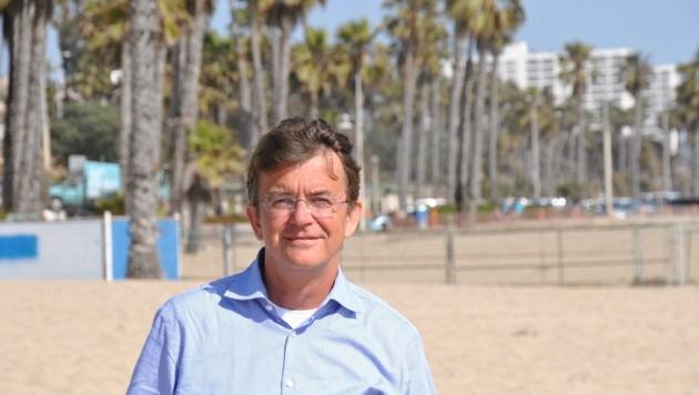 """Am Strand fühlte sich """"Mr. Beach"""" Hannes Jagerhofer auch wohl. (Bild: Clara Milena Steiner)"""