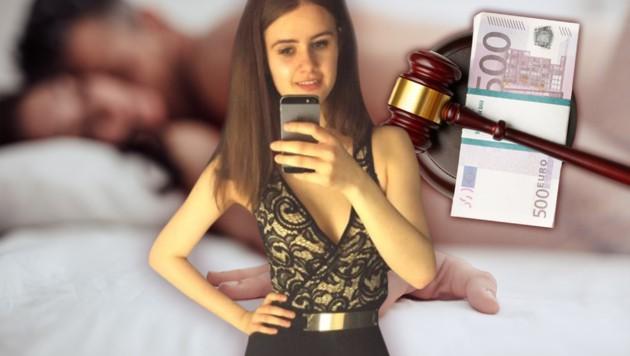 """Kim (18) präsentiert sich auf der Agenturwebsite in der Rubrik """"Jungfrauen"""". (Bild: krone.at-Grafik, thinkstockphotos.de, Cinderella Escorts)"""