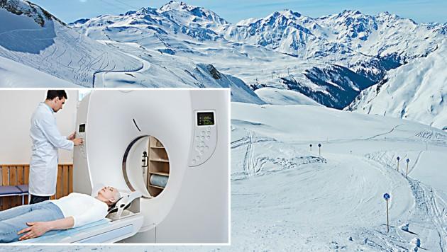 Nach einer Skiverletzung muss man auch damit rechnen, im Privatspital zu landen (Symbolbilder) (Bild: thinkstockphotos.de)