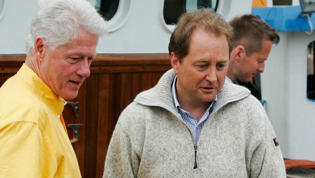 Kjell Inge Rokke mit Bill Clinton (Bild: AFP)