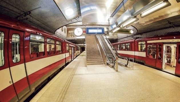 Lokalbahn-Station Hauptbahnhof: Diese ist zweigleisig und daher gibt es weniger Probleme. (Bild: Markus Tschepp)