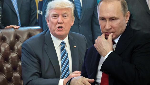 Trump und Putin werden sich Anfang Juli das erste Mal persönlich treffen. (Bild: AFP)