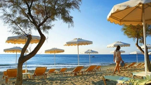 Die griechische Insel Rhodos ist das meistgebuchte Reiseziel ab dem Flughafen Linz (Bild: Kronen Zeitung)