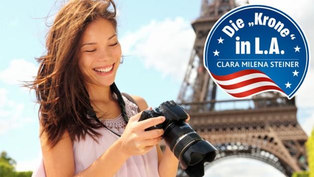 """Von einer Reisewarnung, etwa für Frankreich, lassen sich Amerikaner nicht so leicht einschüchtern. (Bild: """"Krone""""-Grafik, thinkstockphotos.de)"""