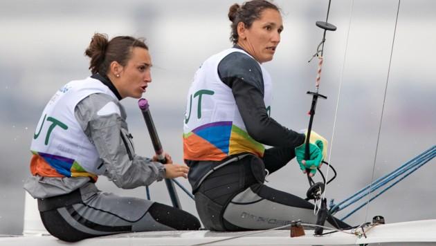 Lara Vadlau (links) mit Jolanta Ogar
