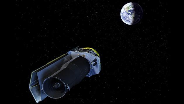 """Das Weltraumteleskop """"Spitzer"""" (Bild: NASA)"""