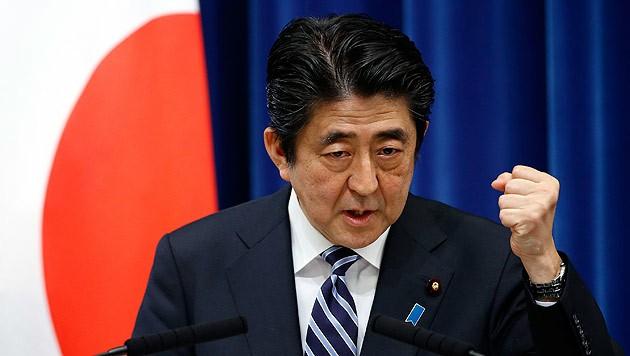 Japans Ministerpräsident Shinzo Abe (Bild: AP)