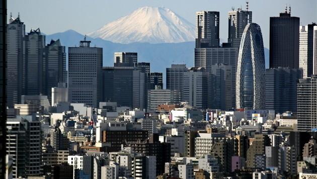 Blick auf den Fuji von Tokio (Bild: EPA)