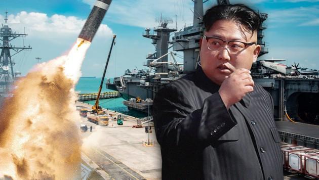 Brief Nach Nordkorea : Nordkorea will atombombe vor us flotte testen krone at