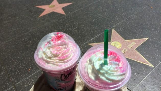 Den Unicorn Frappuccino gibt es nur in den USA zu kaufen. (Bild: Clara Milena Steiner)