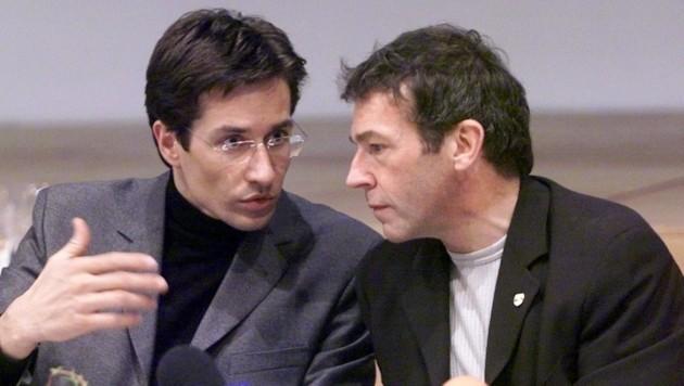 Karl-Heinz Grasser und Jörg Haider im Jahr 2000