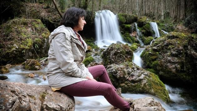 Der Wasserfall wurde für Gudrun Hammer ein Kraftplatz. (Bild: Sepp Pail)