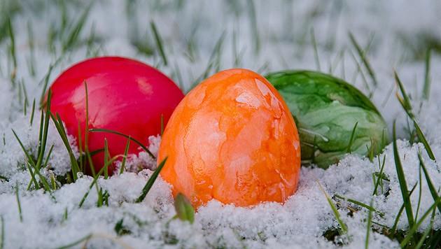 Im Schnee werden die Ostereier heuer nicht liegen.