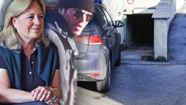 Das mutmaßliche Entführungsopfer Sissy Böhm, der Kidnapper und der Tatort des letzten Überfalls (Bild: APA/ZEITUNGSFOTO.AT, LKA Tirol, MARKUS TSCHEPP)