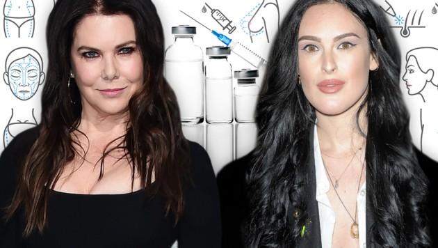 Lauren Graham und Rumer Willis haben es mit Botox und Co. eindeutig übertrieben. (Bild: thinkstockphotos.de, AFP)